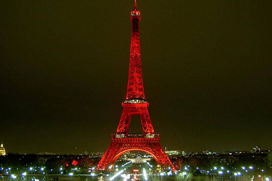 It was decided to paint the Eiffel Tower in red