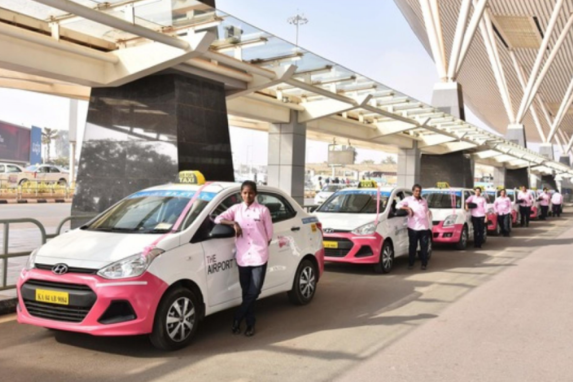 In India, a taxi appeared only for women