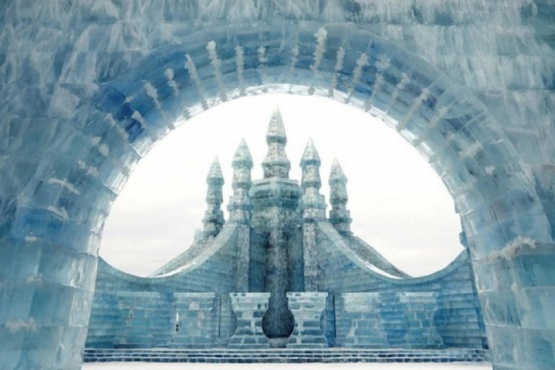 The largest ice festival in the world is held in North China
