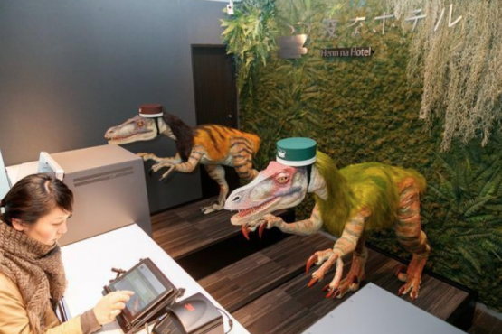Japanese hotel fired dinosaurs